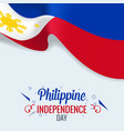 3d realistic philippines flag waving wind vector image