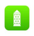 ancient building icon digital green vector image
