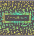 aromatherapy - poster vector image