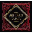 art deco gatsby vector image vector image