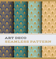 art deco seamless pattern 45 vector image vector image