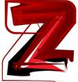 Artistic font letter z vector image vector image