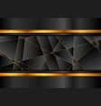 black and orange abstract technology background vector image vector image
