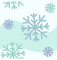 blue snowflakes seamless pattern vector image vector image