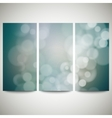 Blurry backgrounds set with bokeh effect Abstract vector image vector image