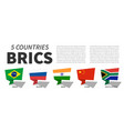 brics association 5 countries speech vector image vector image