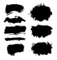 brush strokes grunge collection vector image vector image