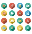business and office flat icons set vector image