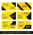 Business card taxi - ninth set vector image vector image