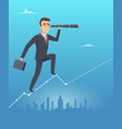 business vision concept male businessman stands vector image