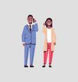 businesspeople couple using smartphones business vector image vector image