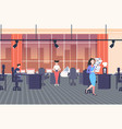 businesswomen at workplace in creative co-working vector image vector image