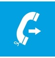Call white icon vector image vector image
