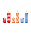 candles collection isolated on white background vector image
