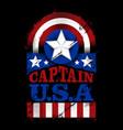 captain usa - american vector image vector image