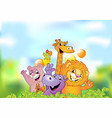 Cartoon animals cheerful background