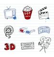 Cinema symbols set vector image vector image