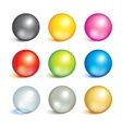 Collection of colorful balls vector image