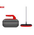 curling sport equipment vector image
