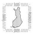 Decorative Map of Finland vector image