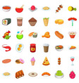 delicious meal icons set cartoon style vector image vector image