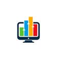 desktop statistic logo icon design vector image vector image