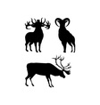 Elk Silhouettes vector image