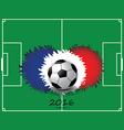 Euro France football championship vector image vector image