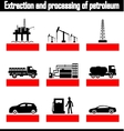 extraction and processing of petroleum vector image