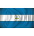 Flag of Nicaragua vector image vector image