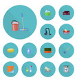 flat icons towel besom mopping and other vector image vector image
