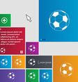 football icon sign buttons Modern interface vector image
