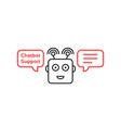 funny robo emoji like chatbot vector image vector image