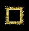 golden splash or glittering spangles square frame vector image