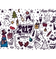 Hand-Drawn Christmas Sketchy Notebook Doodles vector image