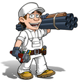 Handyman Plumber Color it Yourself vector image