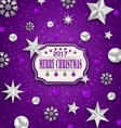 Holiday Silver Starry Background with Best Wishes vector image vector image
