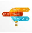 hotair ballon infographics options banner vector image vector image
