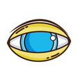 human eye to optical vision icon vector image