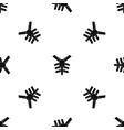 human thorax pattern seamless black vector image vector image