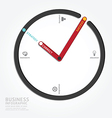 infographics clock design diagram line vector image vector image