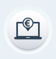 internet banking icon vector image vector image