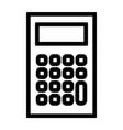 line calculator icon vector image vector image