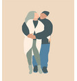 lovers couple hugging smiling happy modern fashion vector image vector image