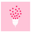 menstrual cup zero waste periods vector image vector image