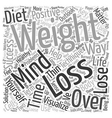 Mind Over Matter Key Strategies for Weight Loss vector image vector image