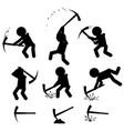 mining figure symbols set black vector image vector image