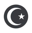 Monochrome round Turkey symbol icon vector image vector image