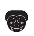 monster emoji black concept icon monster vector image vector image