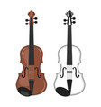 music instrument - violin vector image vector image